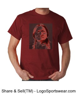 Sitting Bull, Red and Gray Design Zoom