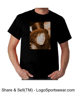Marc Bolan in hat, gold Design Zoom