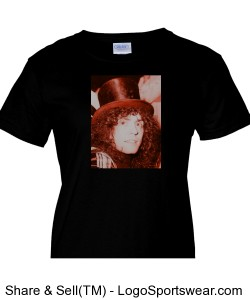 Marc Bolan with Hat, red Design Zoom